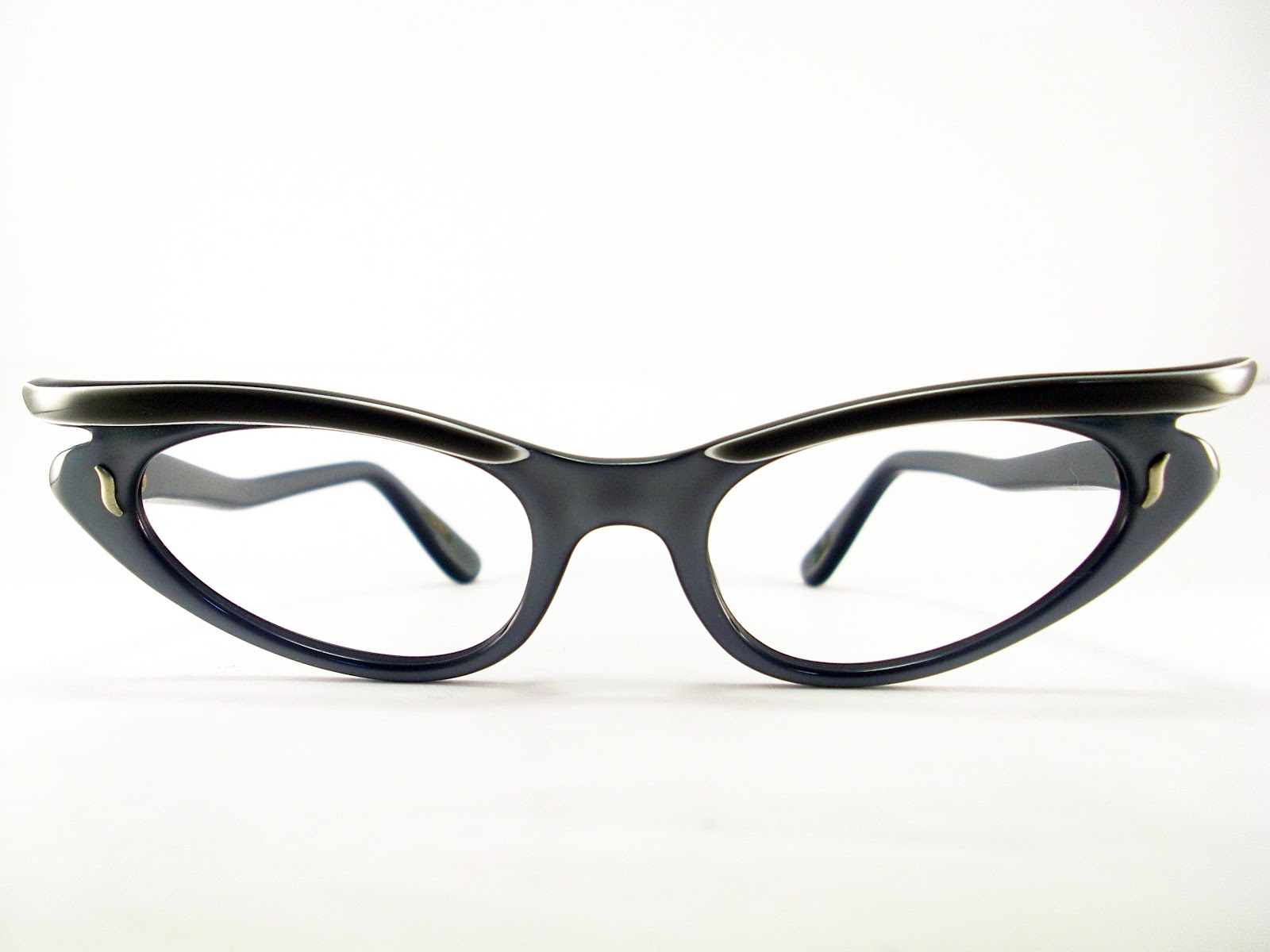 Cat Eyeglass Frames : Vintage Eyeglasses Frames Eyewear Sunglasses 50S: CAT EYE ...
