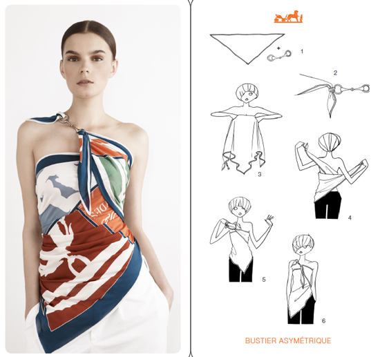 Hermes cards,how to tie a scarf, Hermes scarf styling ideas