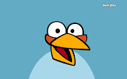 Wallpaper de el pájaro azul de Angry birds