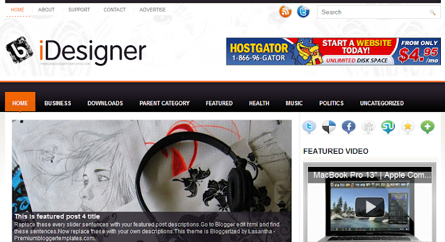 Gadget Magazine Blogger Template