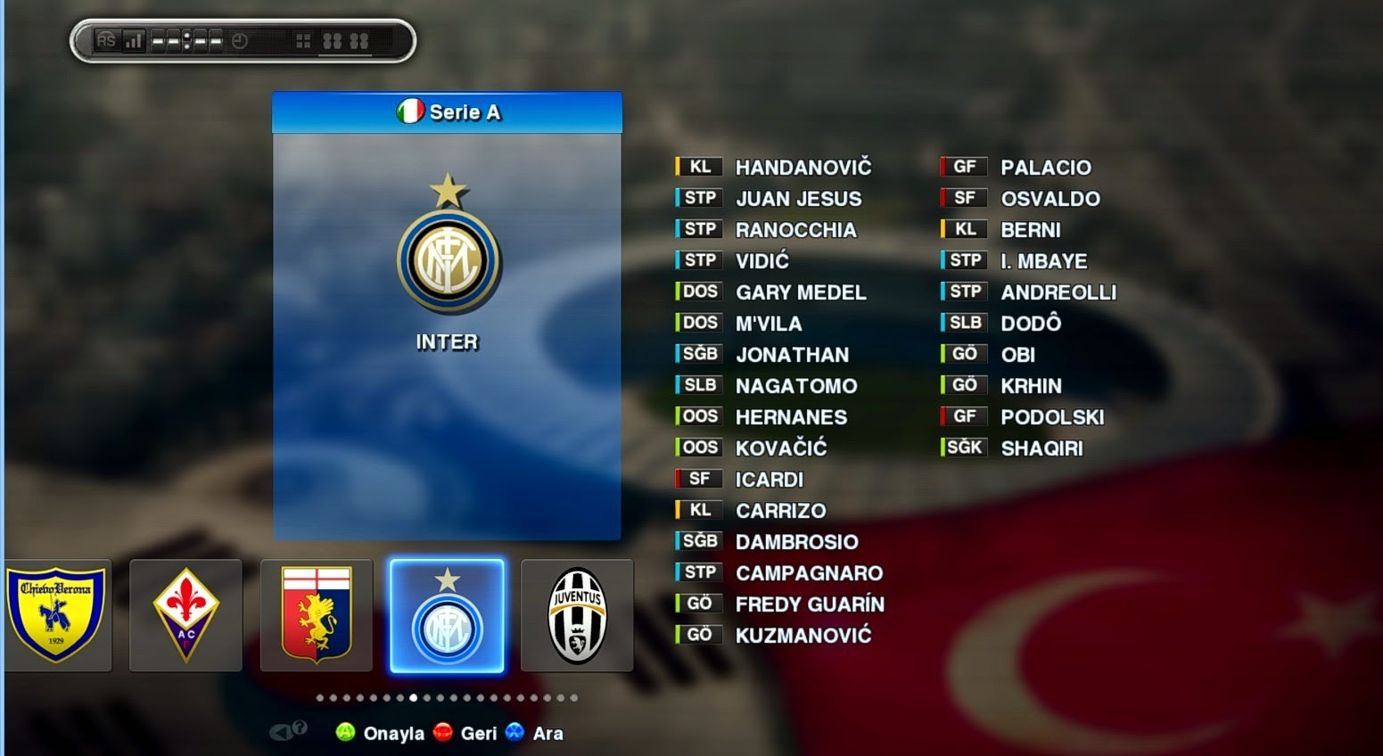 Option File PES 2013 untuk PESEdit 6.0 Update 13 Januari 2015
