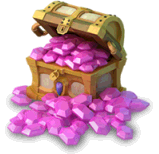 Free download Mountain of Gems Castle Clash Unlimited Gem Roll