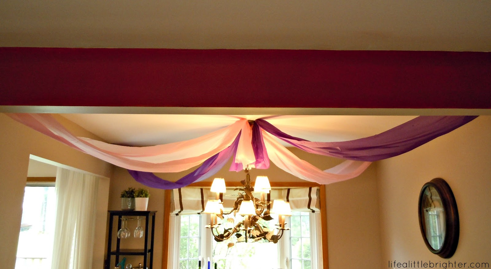 Birthday party diy decorations life a little brighter for Ceiling decoration ideas