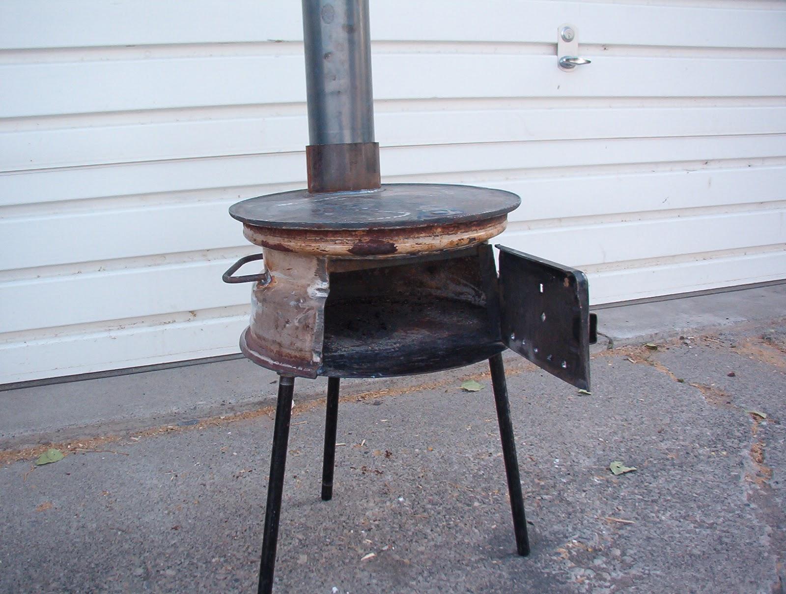 Печка для казана из дисков своими руками фото