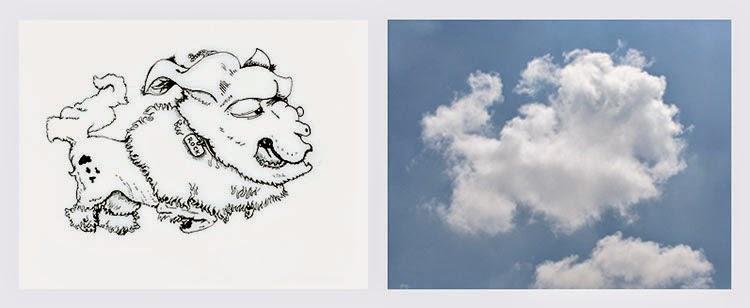 Ingeniosas ilustraciones basadas en la forma de las nubes