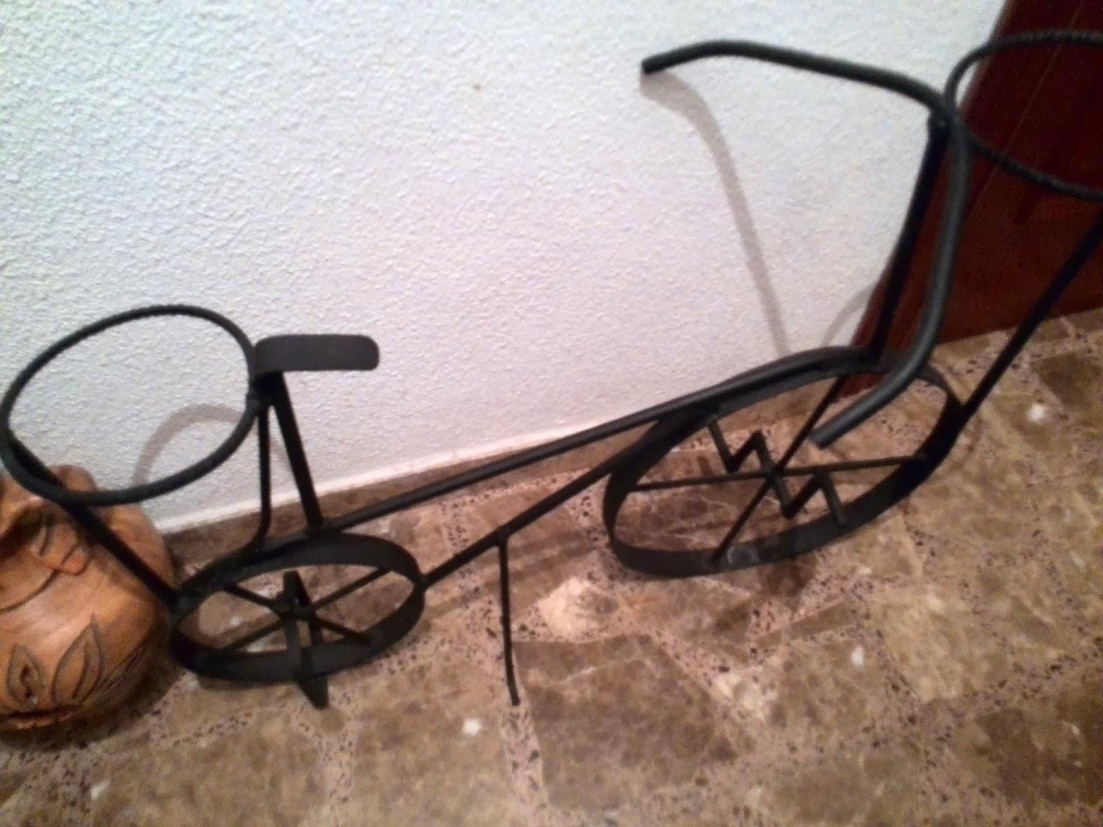 Artesan a y forja bicicleta macetero - Bicicleta macetero ...