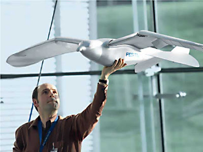SmartBird - A Flying Electronic Bird by Festo