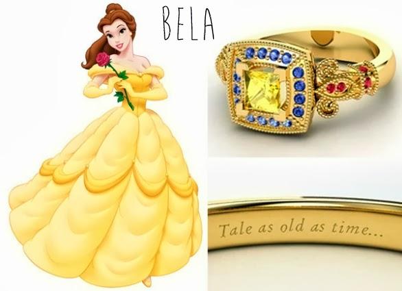 blog Mamãe de Salto aliança inspirada nas princesas da Disney Bela