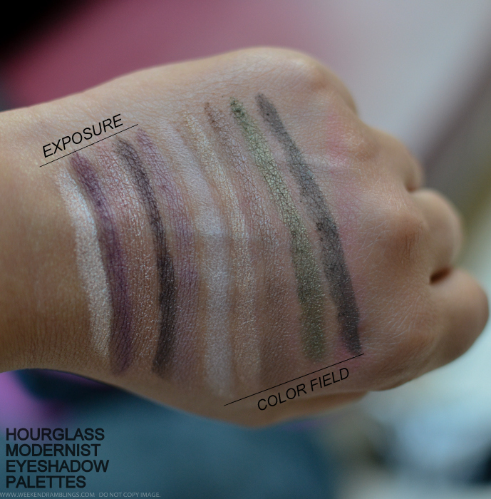 Hourglass Modernist Eyeshadow Palettes Atmosphere Exposure Color Field Swatches