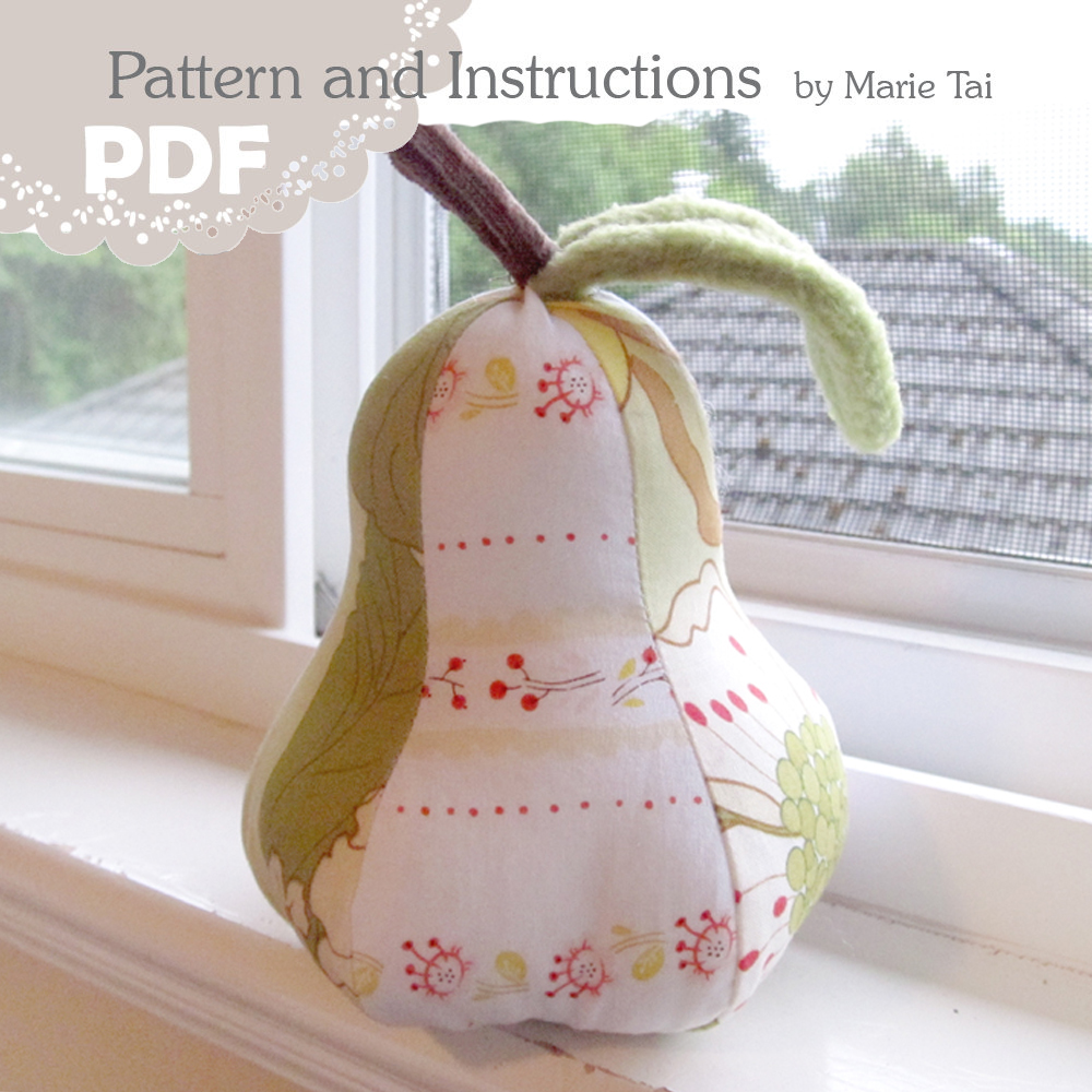 Pear Pincushion Sample Image