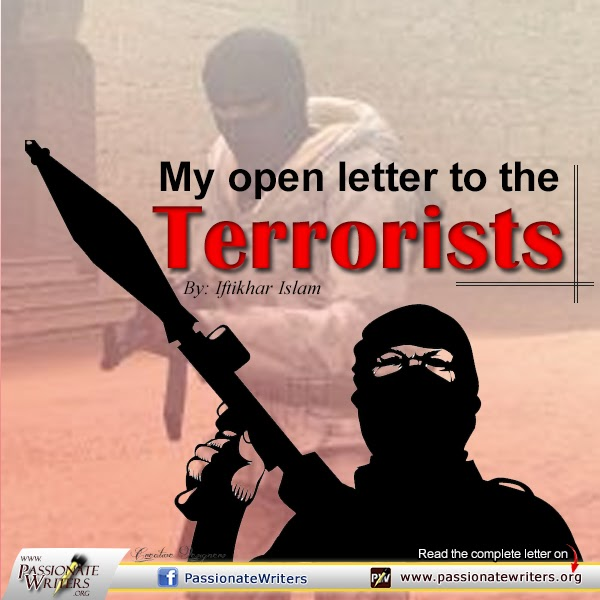 Passionate Writers Peshawar Attack My letter to te terrorists