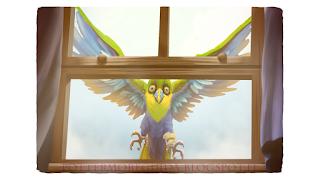 Uno degli uccelli tropicali che Sirius usa al posto dei gufi postini