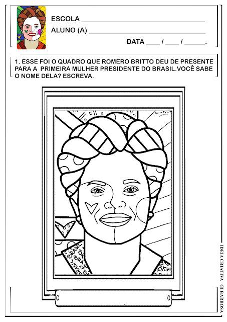 Atividade Romero Britto Tela Dilma Rousseff