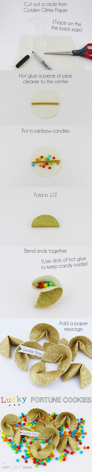 Rainbow Lucky Fortune Cookie Tutorial