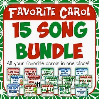http://www.teacherspayteachers.com/Product/Favorite-Carols-BUNDLE-15-Song-Bulletin-Board-Set-1576505