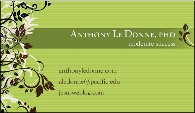 The Jesus Blog: Honest Business Cards - Le Donne