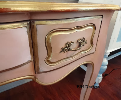 painted desk makeover