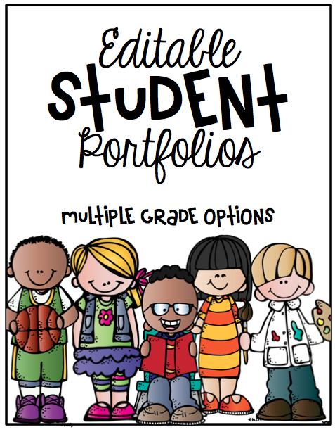 Student Portfolio Cover- Editable