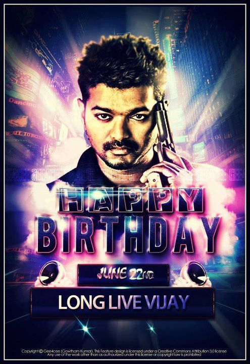The next superstar Ilayathalapathy to celebrate his 38th birthday on ...