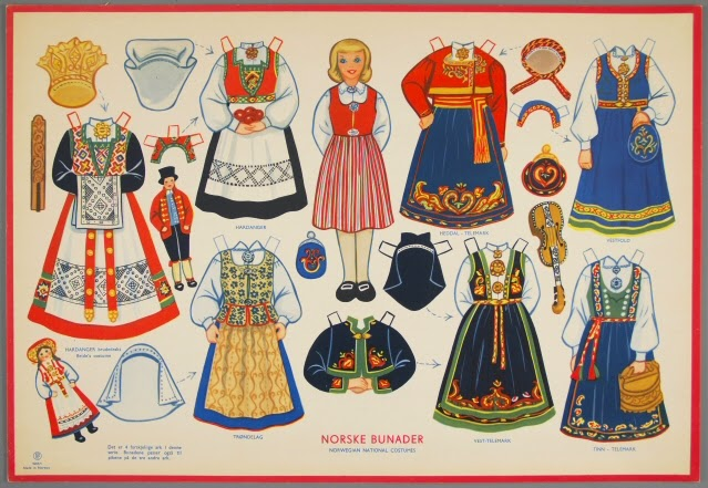 Norwegian national costumes (Photo from The Strong-Museum of play)