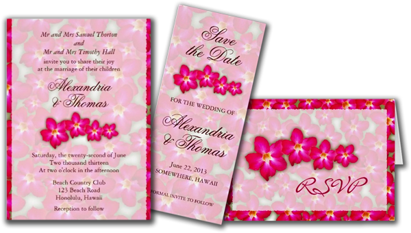 Desert Rose Collage Wedding Invitation