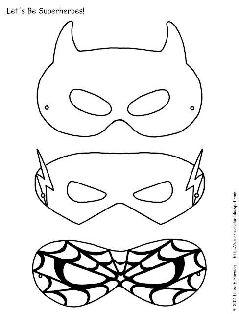 Plantillas de máscaras de Super Héroes.