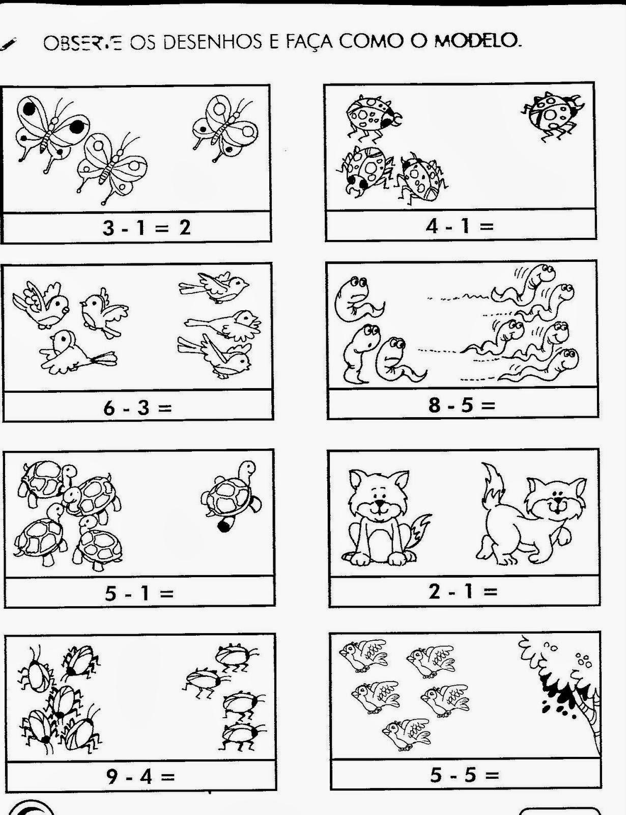 Atividades de matemática para 1o ano ensino fundamental
