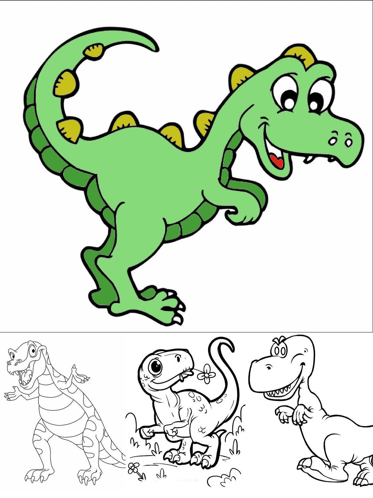 ausmalbilder dinosaurier  dinosaurier zum ausmalen