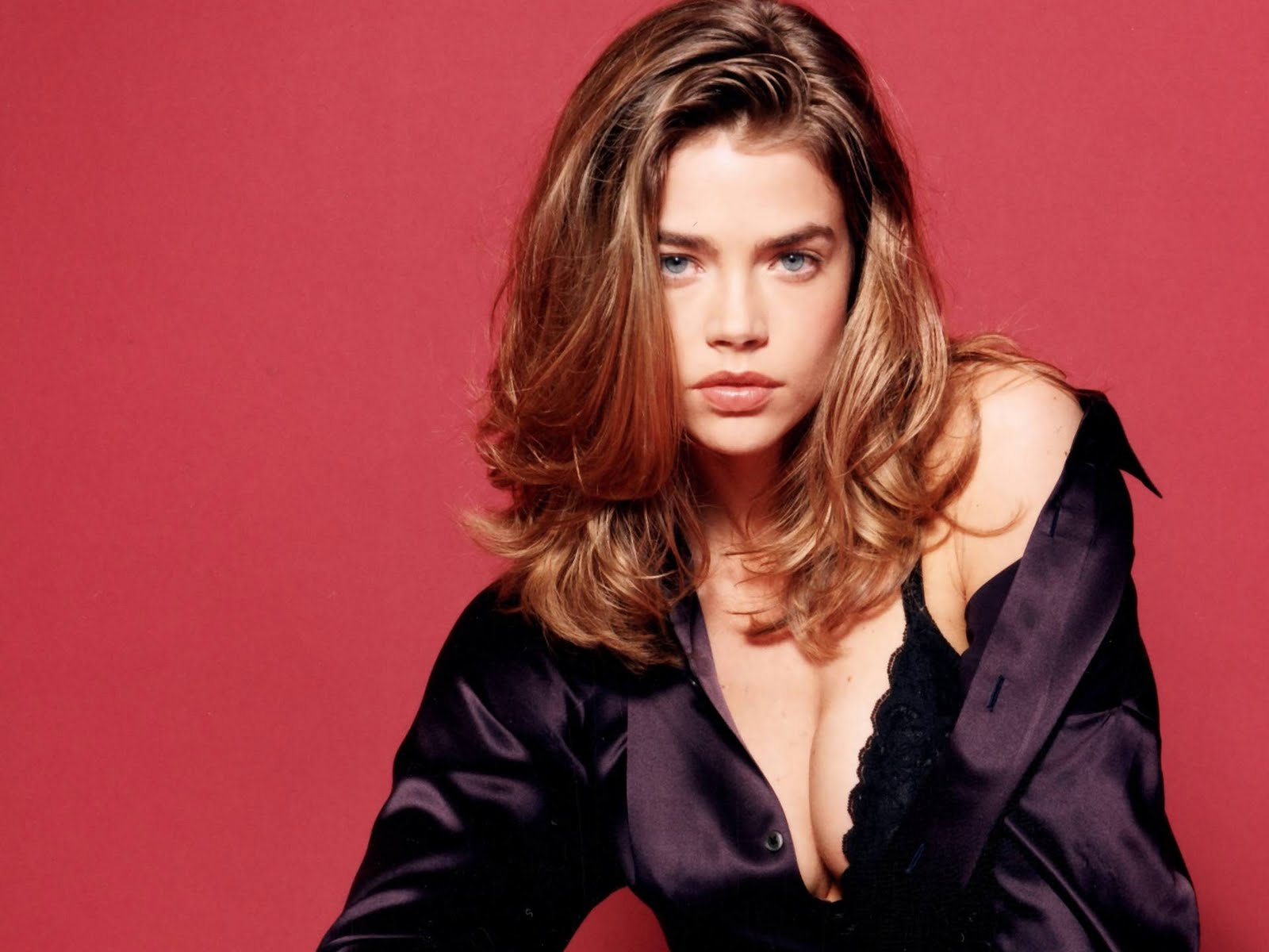 denise richards in black bra