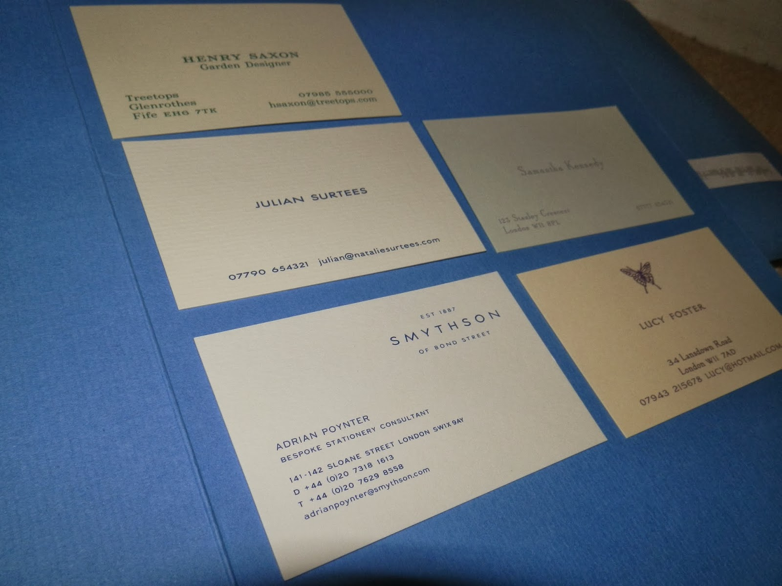 Modern Smythson Business Cards Ideas - Business Card Ideas - etadam.info