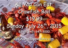 Crayfish Boil & Abita Beer | Sunday July 26th, 1pm to 5pm