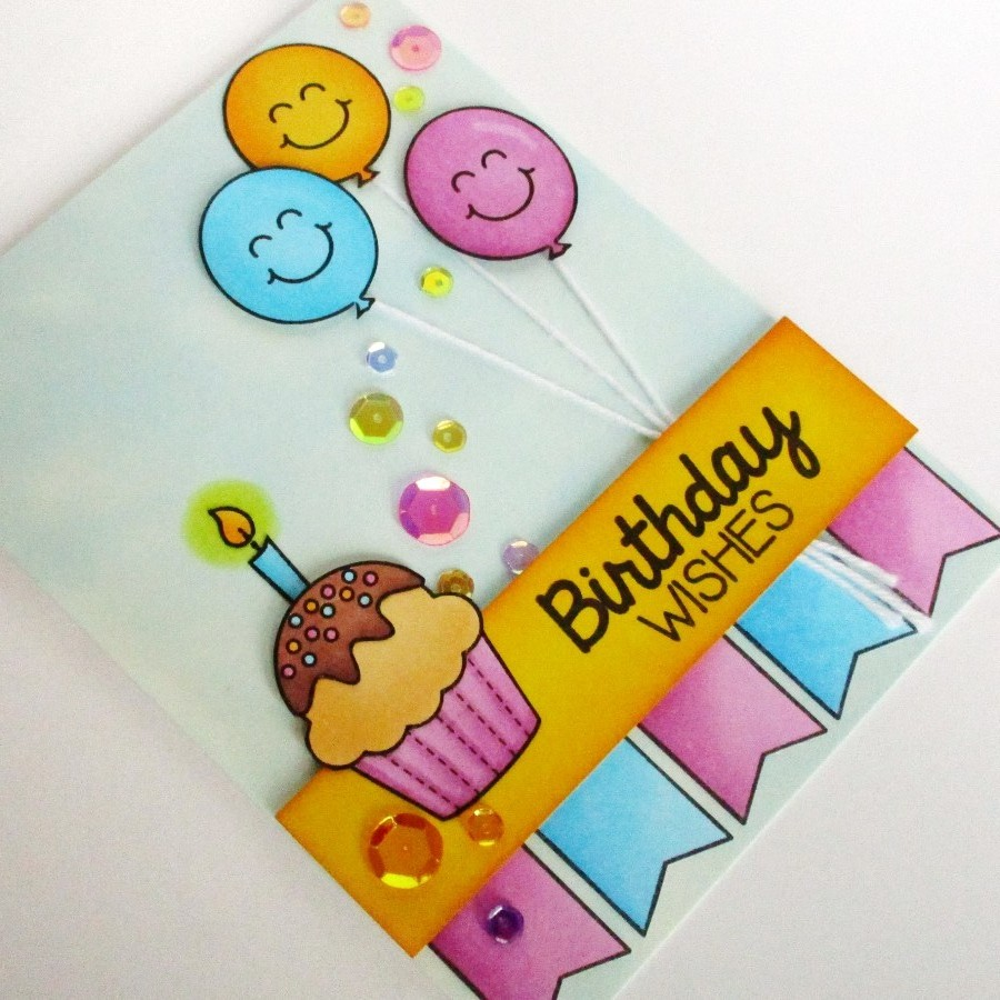 Sunny Studio Birthday Smiles Girly Birthday Card Ideas – Cute Birthday Cards Ideas