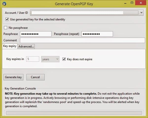 Klucze kryptograficzne OpenPGP - Enigmail