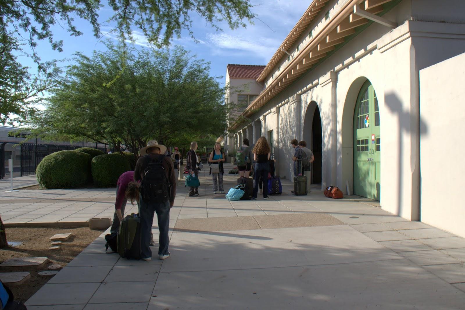 Arriving at the Tucson Amtrak Station