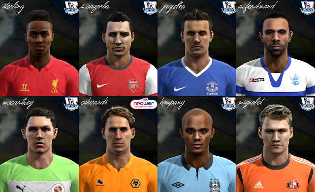 Premier League Facepack v5 - PES 2013