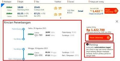 gambar cara pesan tiket online traveloka