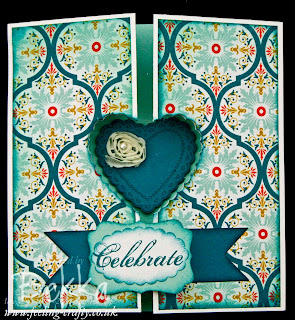 Adorable Hearts A Flutter Card by Stampin' Up! Demonstrator Bekka Prideaux - this would make a wonderful Valentines Card or Wedding Card
