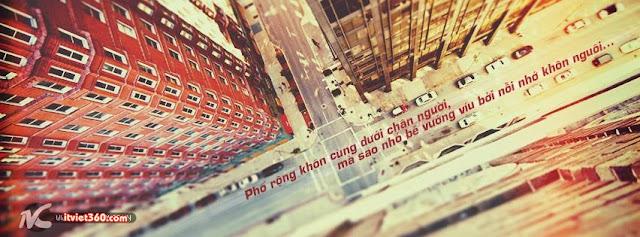 ảnh bìa Facebook đẹp nhất, phố rộng khôn cùng dưới chân người
