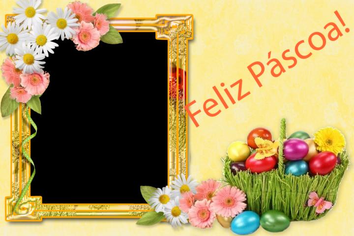 Moldura feliz Páscoa