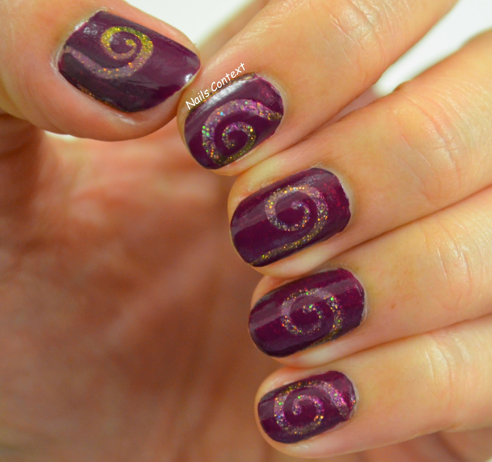 Nail Polish Swirl Painting Creative Touch