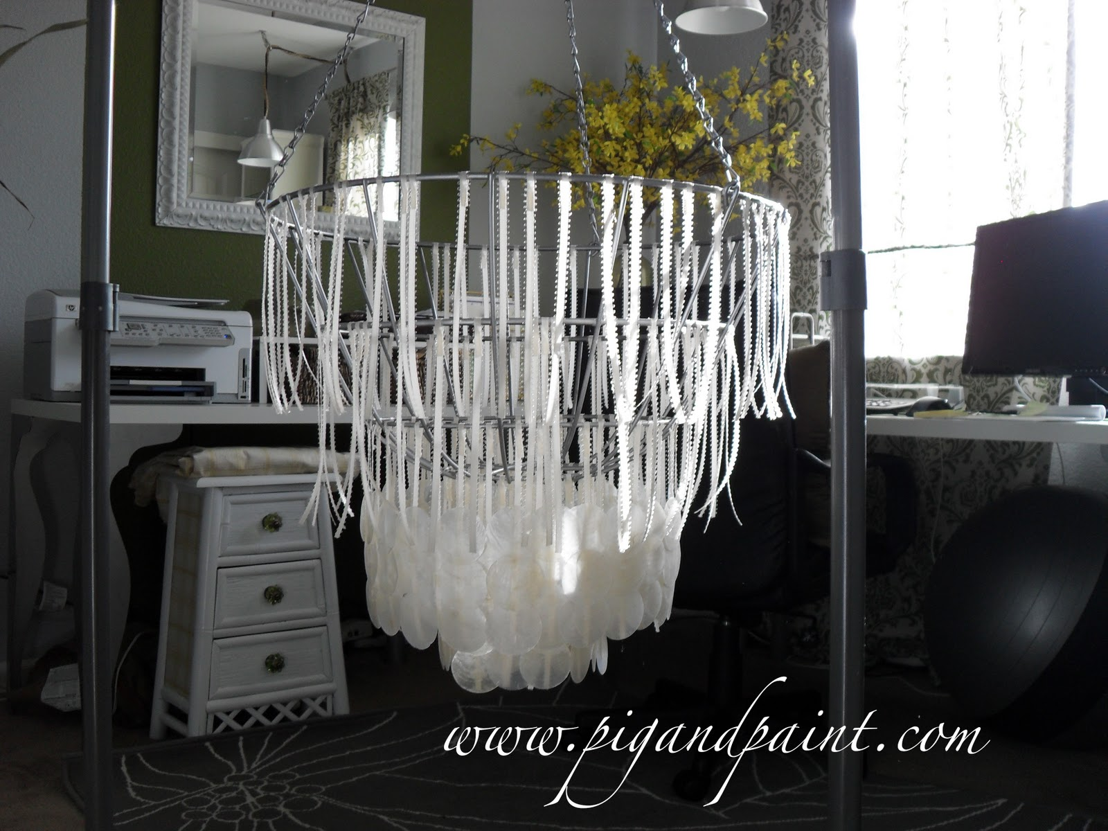 Pig and paint how to make a diy capiz shell chandelier aloadofball Choice Image