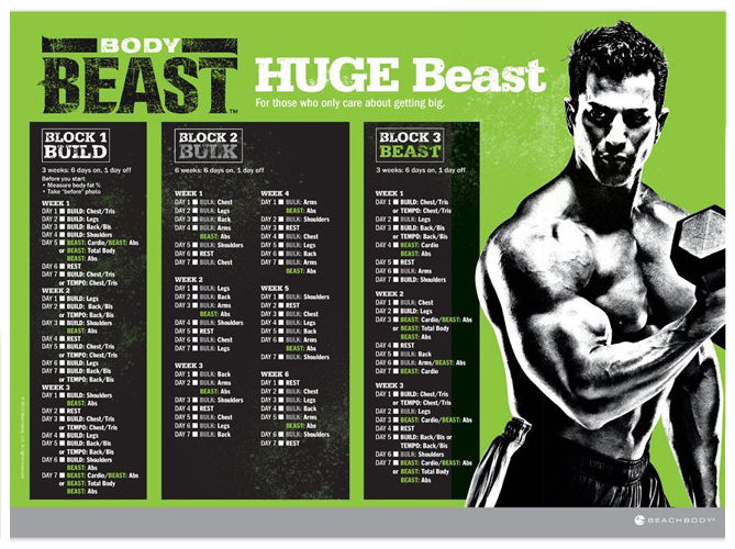 There is a Build, Bulk and Beast! With a Huge Beast or a Lean Beast!