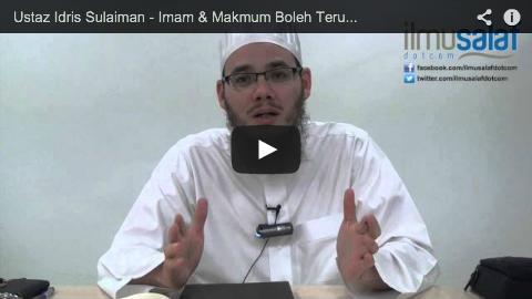 Ustaz Idris Sulaiman – Imam & Makmum Boleh Terus Bangkit Selepas Solat Tanpa Berzikir