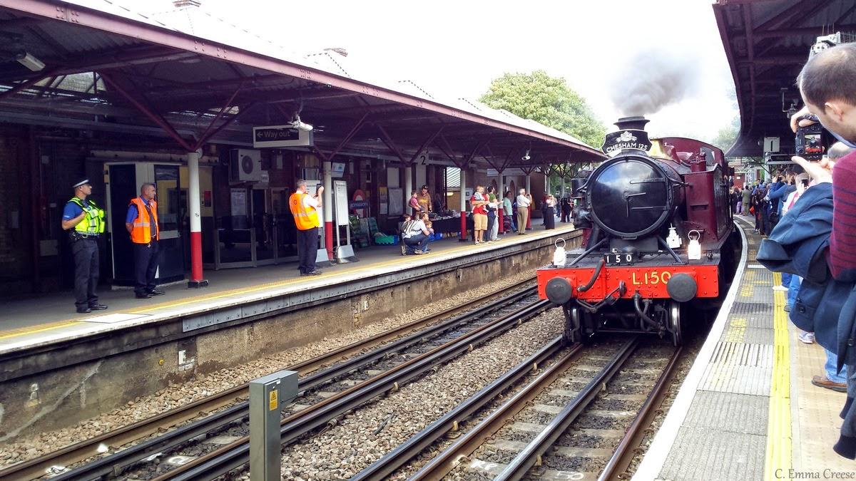 Catching a steam train on the London Underground - all aboard!
