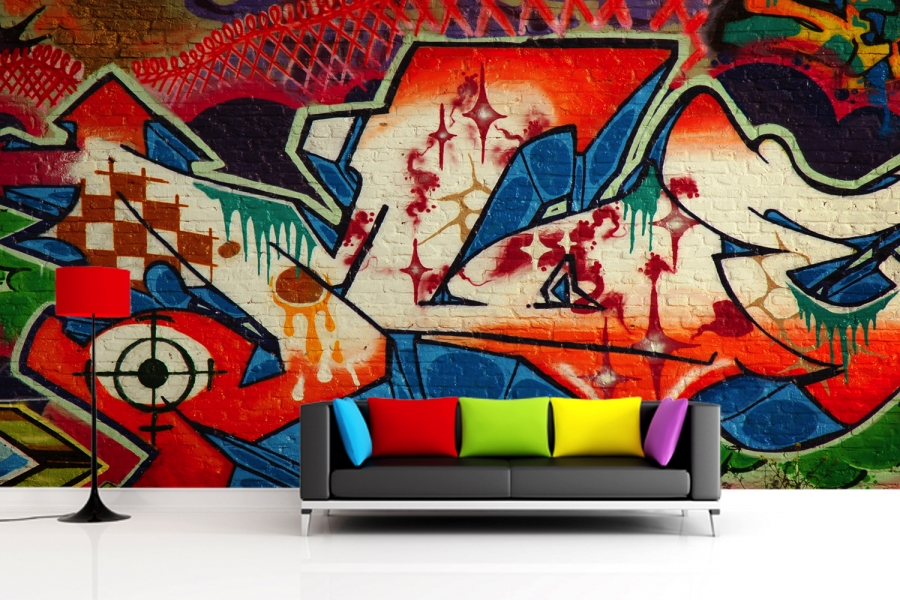 graffiti wall murals amazing nails wall mural street graffiti photo wallpaper orange