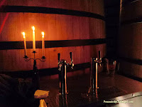 Candlelit taps among the foeders