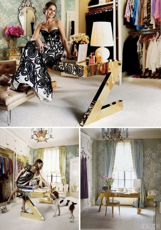 Aerin Lauder dressing room