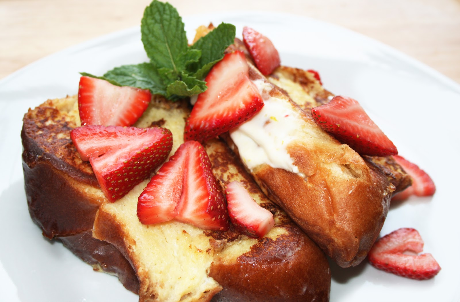 Challah French Toast With Strawberries Recipe — Dishmaps