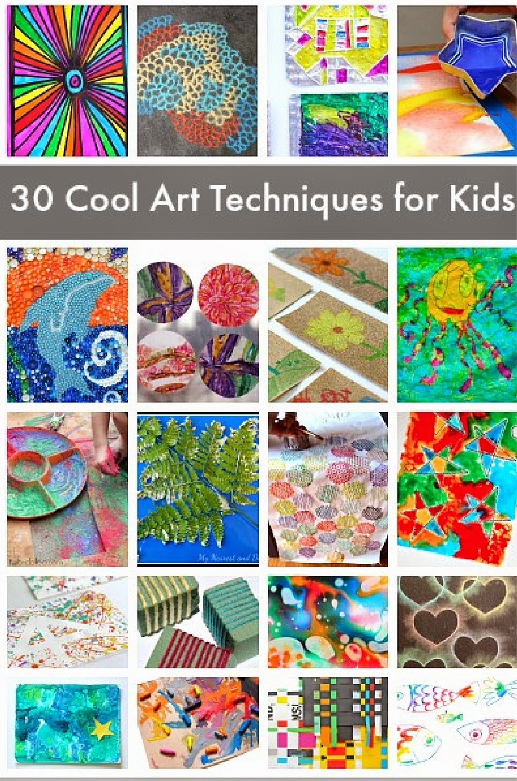 30 Creative Art Techniques For Kids