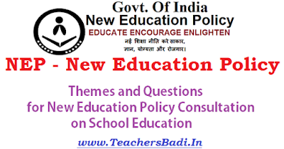 NEP themes, Questions,New Education Policy